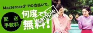 Mastercardの異支払いで配送手数料が無料!!