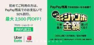 初回限定!PayPayで1000円以上支払いで50%OFF(最大2500円OFF)